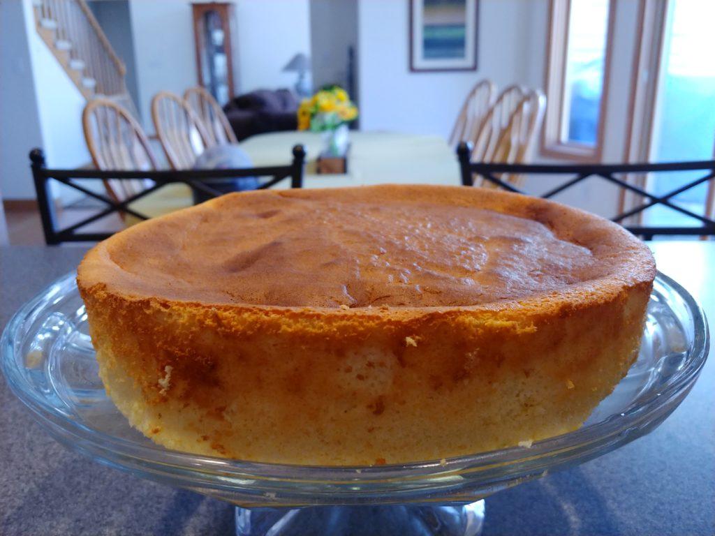 Undecorated Japanese Cheesecake