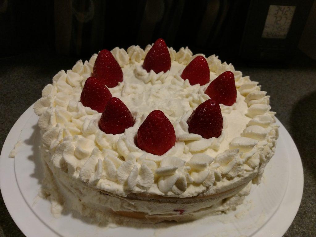 top view of christmas cake